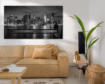 New York vanaf Brooklyn von Chris van Kan