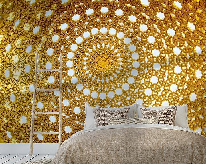 Sfeerimpressie behang: Gouden koepel  (gezien bij vtwonen) van Renée Teunis