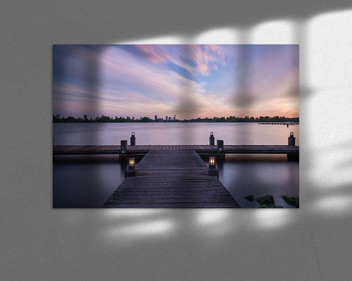 Sfeerimpressie: Sunset kralingseplas Rotterdam van Ilya Korzelius