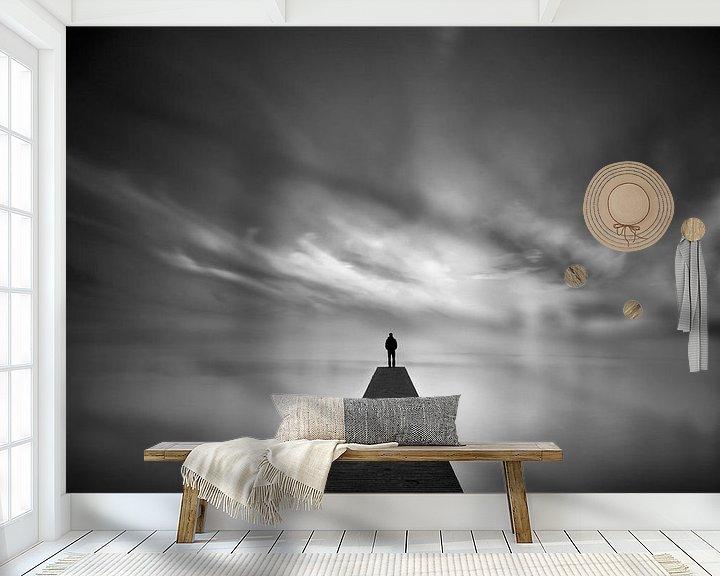 Sfeerimpressie behang: Tempus Fugit V: Turbulent Silence van Martijn van der Nat