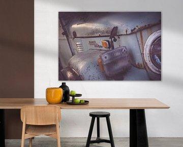 Altmodische rostigen Auto - Nahaufnahme von Studio W&W