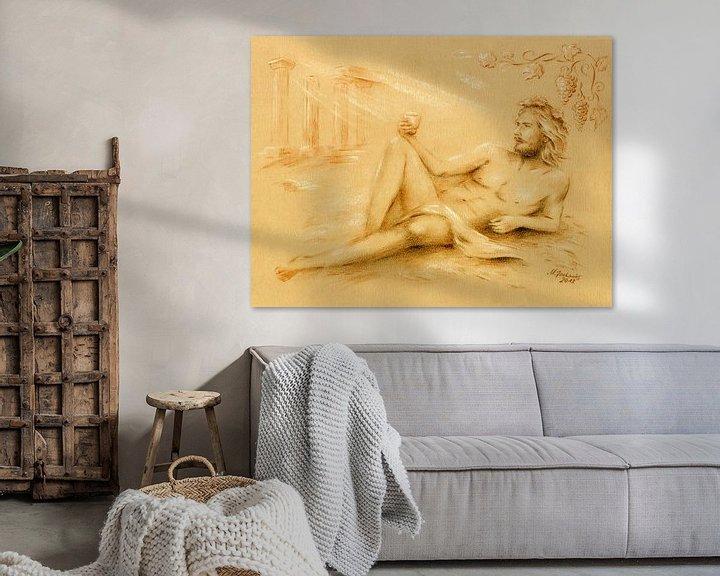 Sfeerimpressie: Dionysus god van de wijn - Wijn god Bacchus van Marita Zacharias