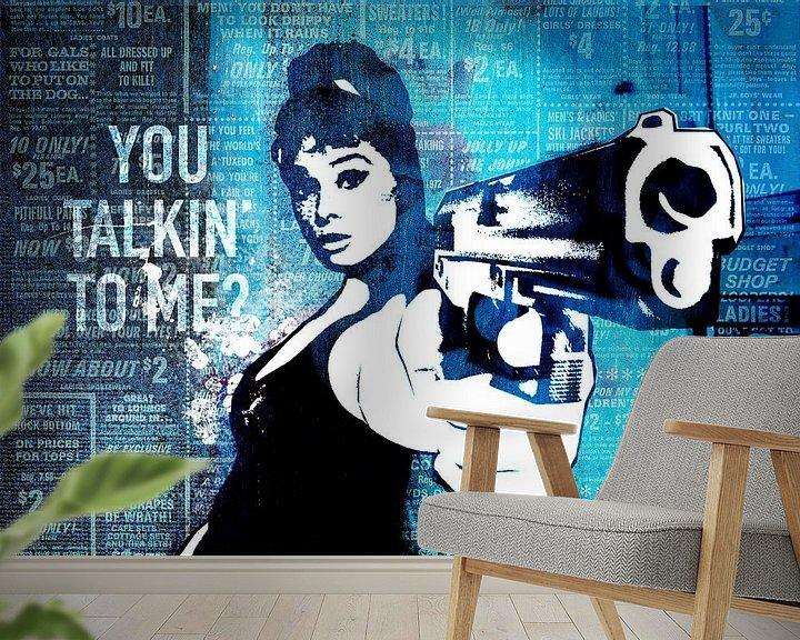 Beispiel fototapete: You Talkin' To Me? von Feike Kloostra