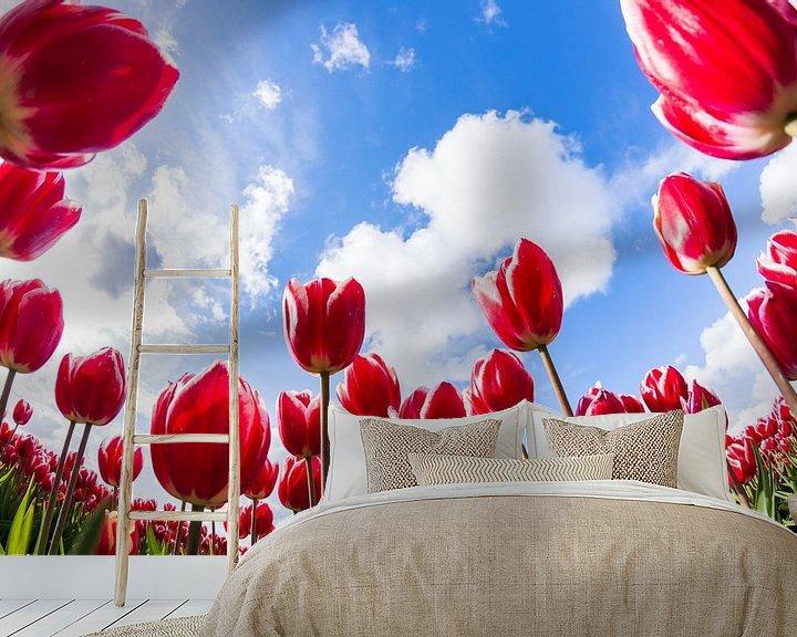 Sfeerimpressie behang: Hollandse Tulpen van Frenk Volt