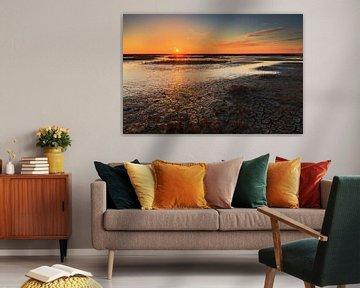 Oranje boven de Waddenzee van Karla Leeftink