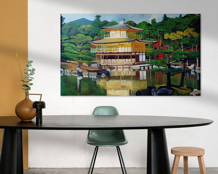 Beispiel: Kinkaku -ji Goldener Pavillon Tempel Kyoto von Iwona Sdunek alias ANOWI