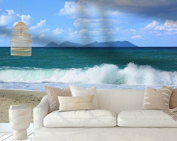 Sfeerimpressie behang: View at the Beach van Gisela Scheffbuch
