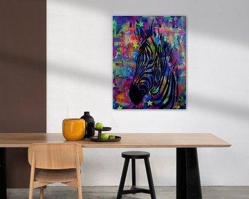 Zebra van Femke van der Tak (fem-paintings)