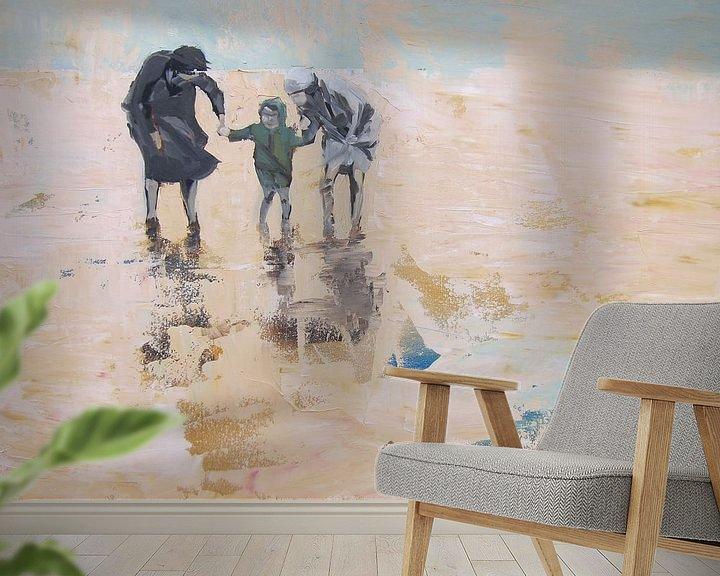 Sfeerimpressie behang: Uitwaaien van Chris Willems