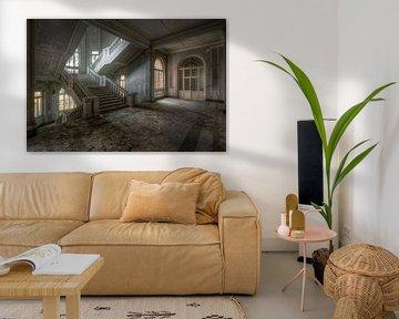 Verlassene Treppe aus Beton. von Roman Robroek