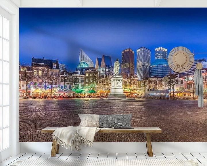 Sfeerimpressie behang: Den Haag - Plein van Tom Roeleveld