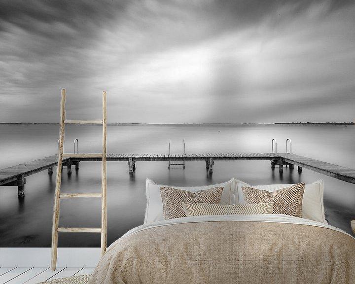 Sfeerimpressie behang: Steiger van Tom Roeleveld