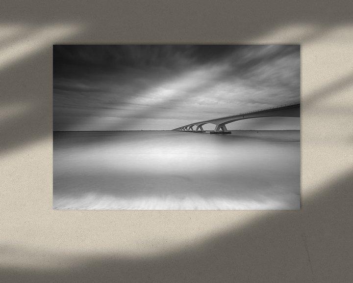 Sfeerimpressie: Zeelandbrug in zwart-wit van Tom Roeleveld
