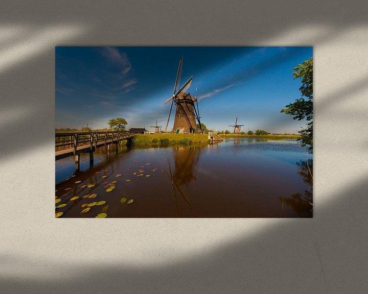 Sfeerimpressie: Kinderdijk Windmills  van Brian Morgan