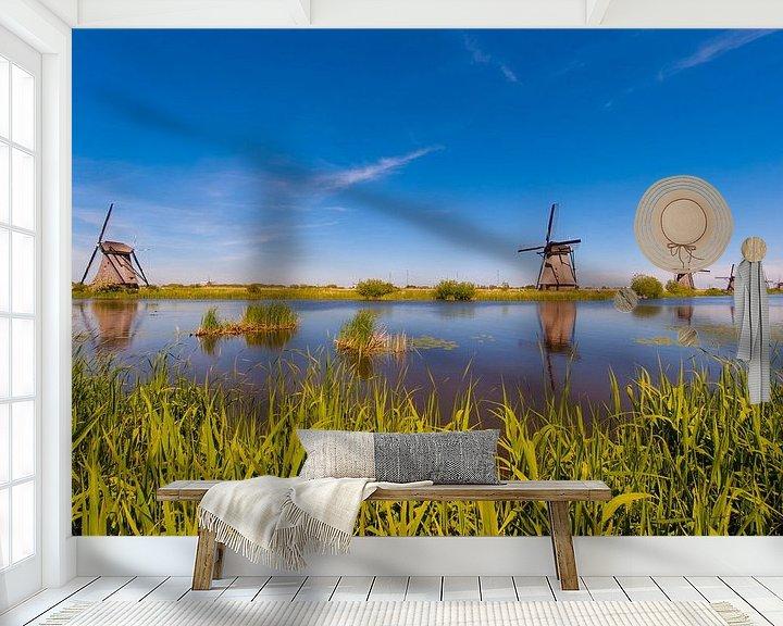 Sfeerimpressie behang: Windmills in the Sun van Brian Morgan