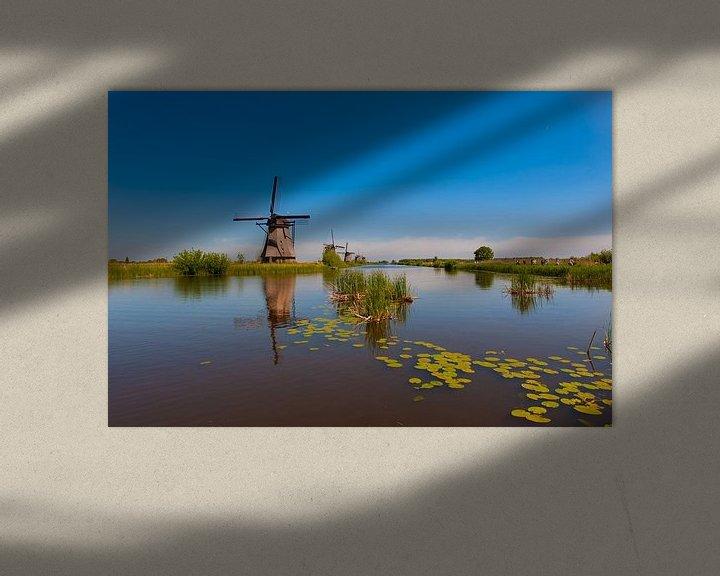 Sfeerimpressie: Windmills on Kinderdijk Holland van Brian Morgan