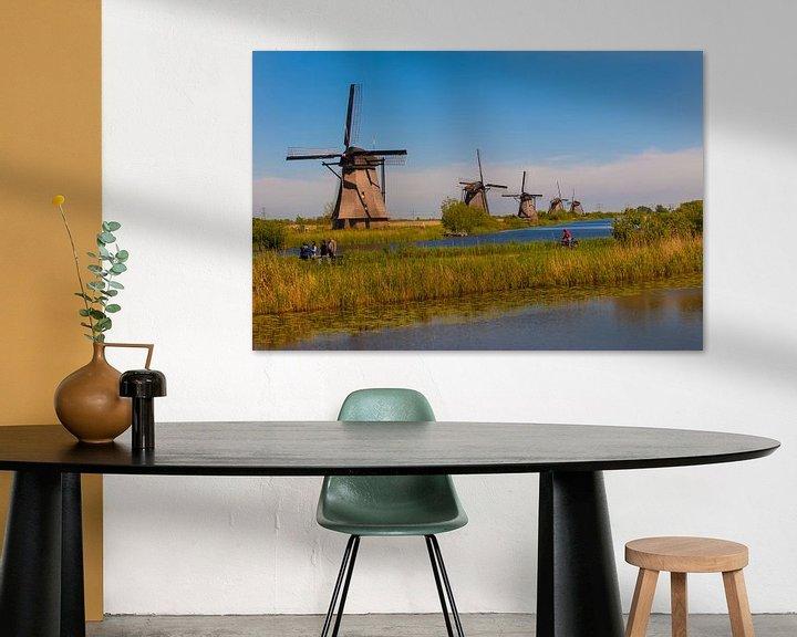 Sfeerimpressie: Kinderdijk Windmills in Holland van Brian Morgan