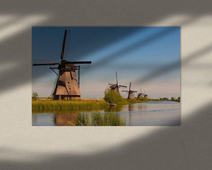 Sfeerimpressie: Kinderdijk Holland windmills van Brian Morgan