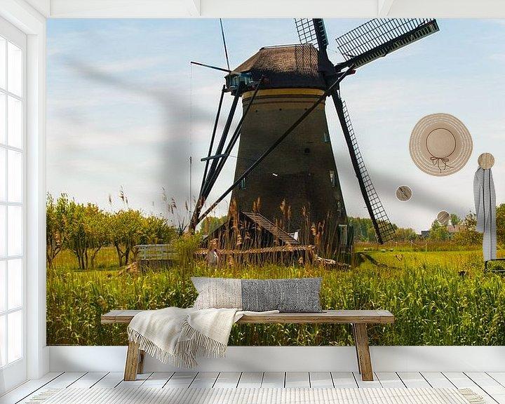 Sfeerimpressie behang: Windmill van Brian Morgan