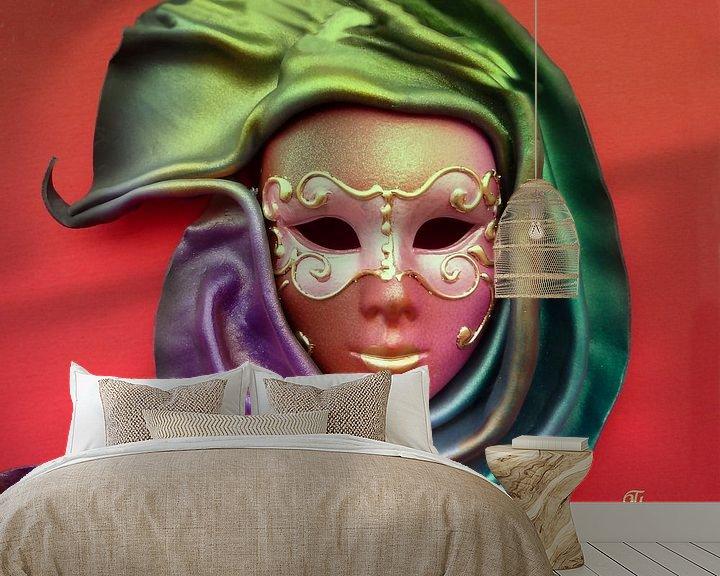 Sfeerimpressie behang: Mask van Thea Ulrich / UtheasArt