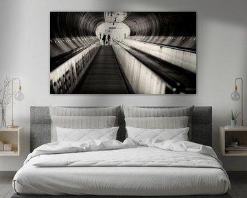 Tunnel Wilhelminaplein, Rotterdam van Vincent van Kooten