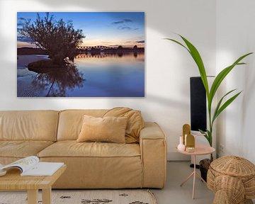 De Maas in 's-Hertogenbosch bij zonsondergang van Jasper van de Gein Photography