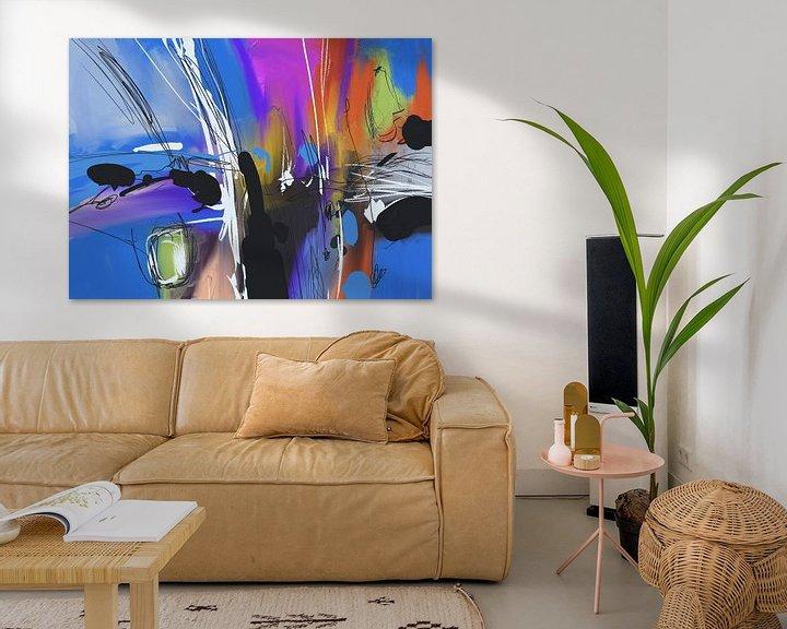 Beispiel: Blue abstract von Wilfried van Dokkumburg