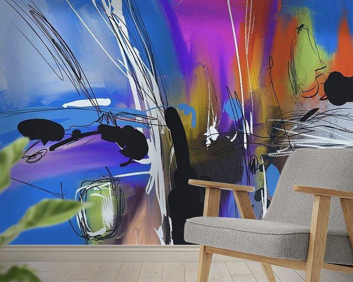 Beispiel fototapete: Blue abstract von Wilfried van Dokkumburg