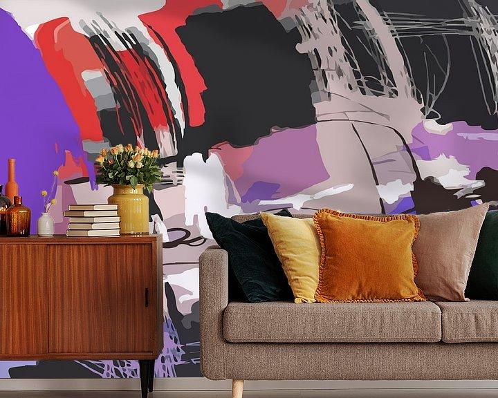 Sfeerimpressie behang: MOVE van Wilfried van Dokkumburg