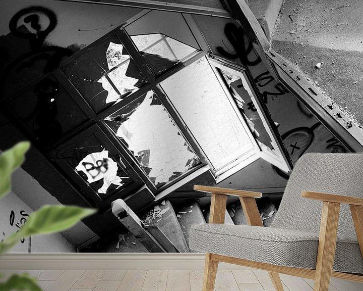 Beispiel fototapete: Eine verlorene Treppe in einem verlassenen Haus von Jacqueline Groot