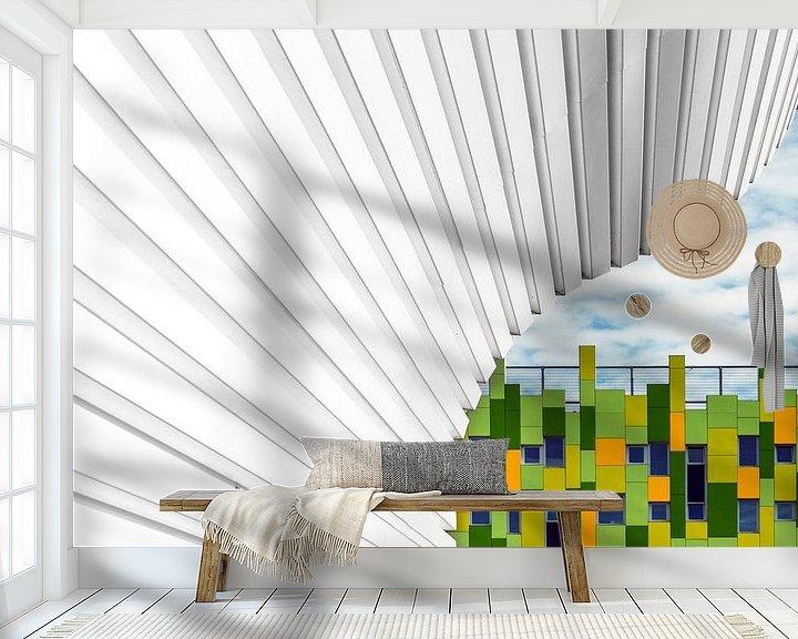 Sfeerimpressie behang: Groen van Maerten Prins