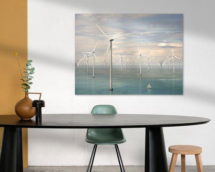 Sfeerimpressie: Duizend windmolens op zee - lentebries van Frans Blok