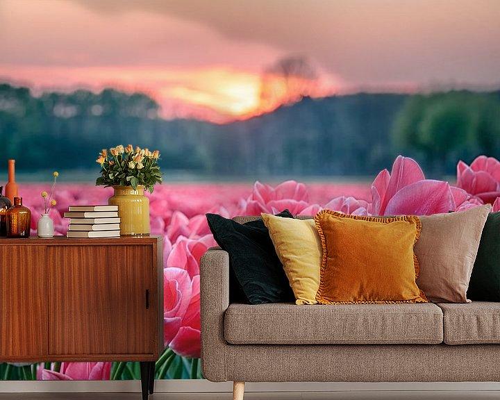 Sfeerimpressie behang: Tulpendroom van Fotografie Egmond