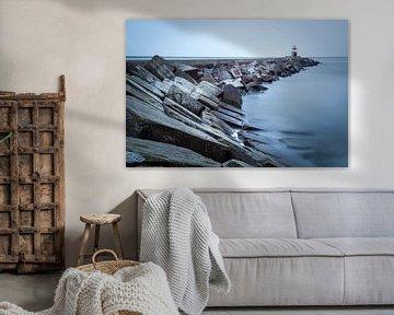 De Noordpier bij Wijk aan Zee van Fotografie Egmond