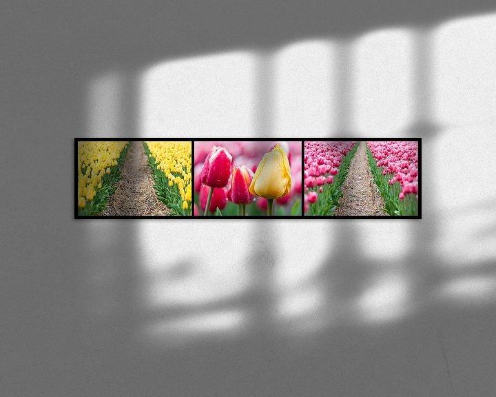 Sfeerimpressie: tulpen drieluik  van Fotografie Egmond
