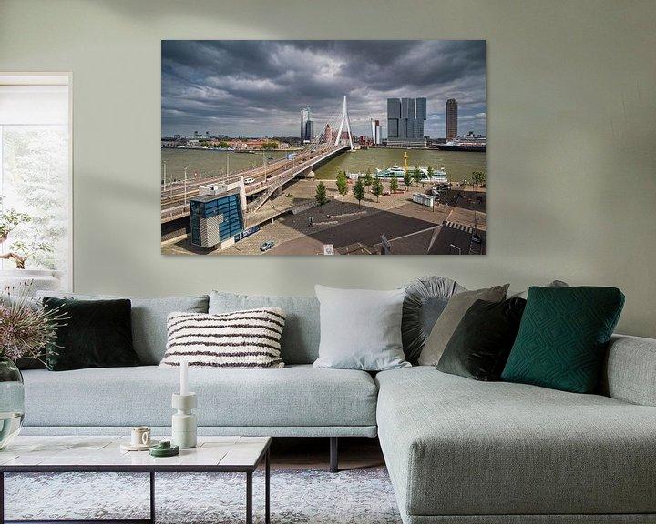 Sfeerimpressie: Erasmusbrug | Rotterdam van Rob de Voogd / zzapback