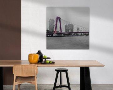 Rotterdam Willemsbrug (67155) van John Ouwens
