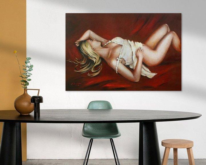 Beispiel: Schlafende Venus - Girl in Dessous von Marita Zacharias