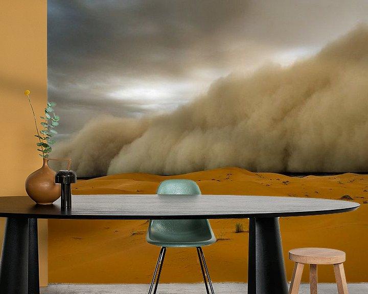 Sfeerimpressie behang: Zandstorm! van Peter Vruggink