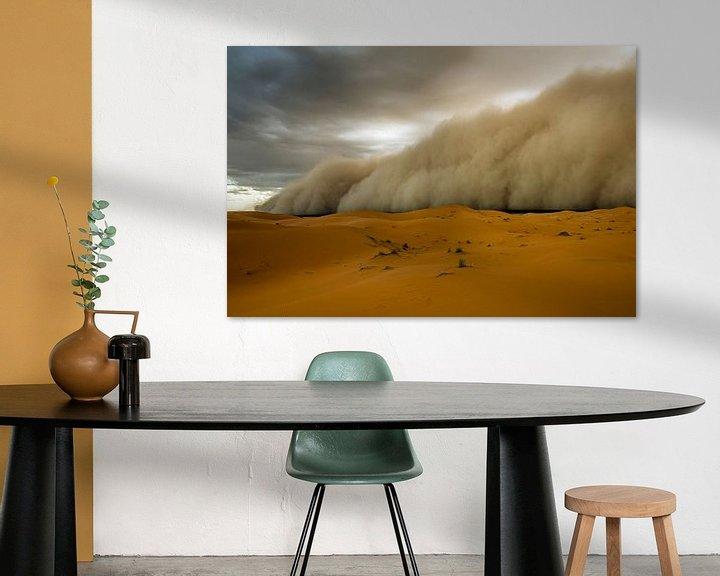Sfeerimpressie: Zandstorm! van Peter Vruggink