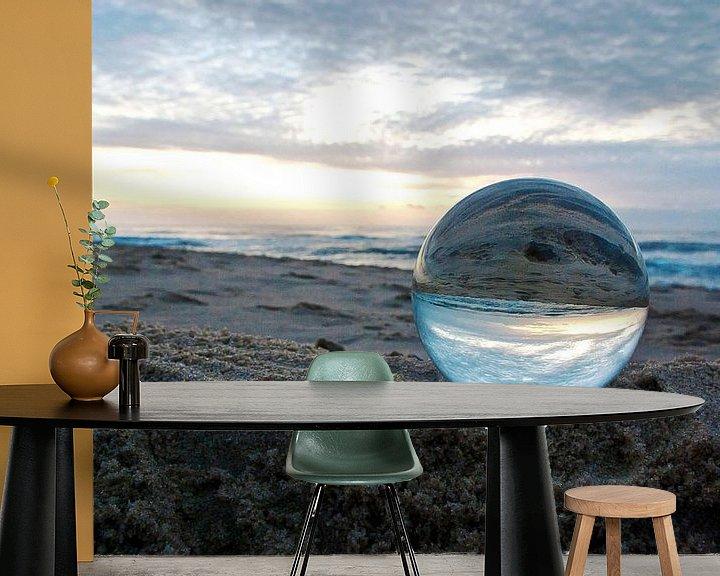 Sfeerimpressie behang: Sylt: de avond op het strand van Norbert Sülzner