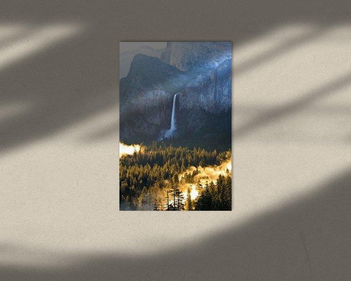 Sfeerimpressie: Prachtige ochtend bij de Bridalveil Waterval in Yosemite National Park in de Verenigde Staten van Am van Ricardo Bouman