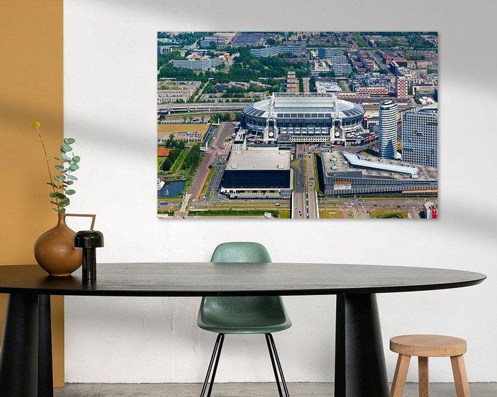 Sfeerimpressie: Amsterdam Arena / Johan Cruijff Arena vanuit de lucht gezien van Anton de Zeeuw