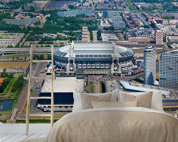 Sfeerimpressie behang: Amsterdam Arena / Johan Cruijff Arena vanuit de lucht gezien van Anton de Zeeuw