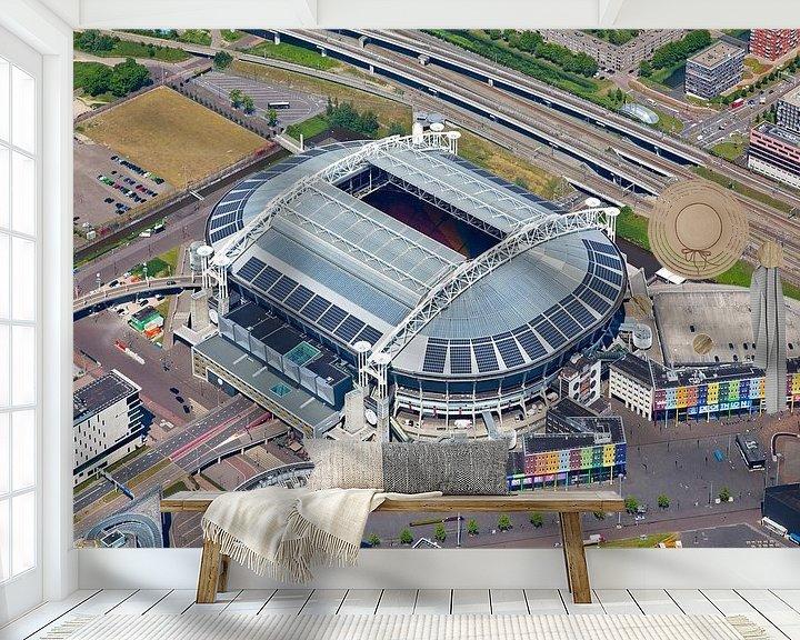 Sfeerimpressie behang: Luchtfoto Amsterdam Arena / Johan Cruijff Arena van Anton de Zeeuw