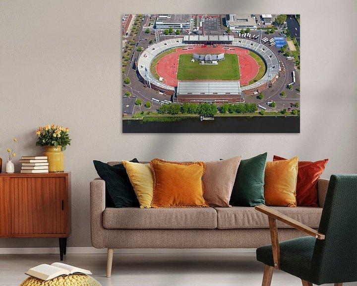 Sfeerimpressie: Luchtfoto Olympisch Stadion Amsterdam van Anton de Zeeuw