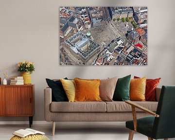 Luchtfoto Koninklijk Paleis Amsterdam en de Dam