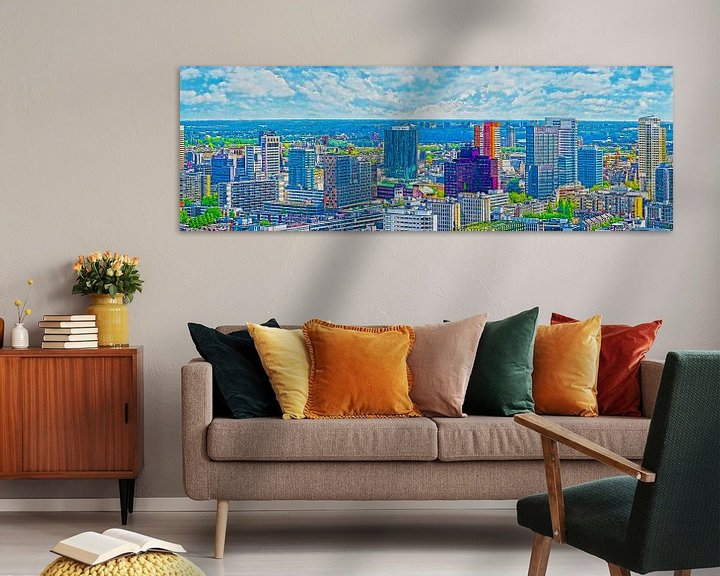 Sfeerimpressie: Rotterdam: Skyline-Panorama van Frans Blok