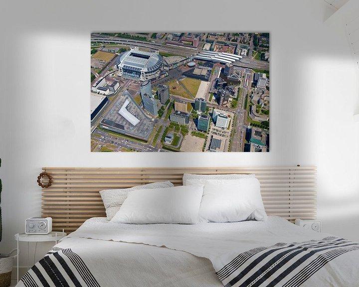 Sfeerimpressie: Luchtfoto Arena gebied te Amsterdam van Anton de Zeeuw