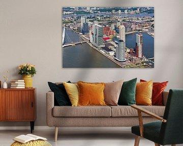 Aérienne Wilhelminapier Rotterdam